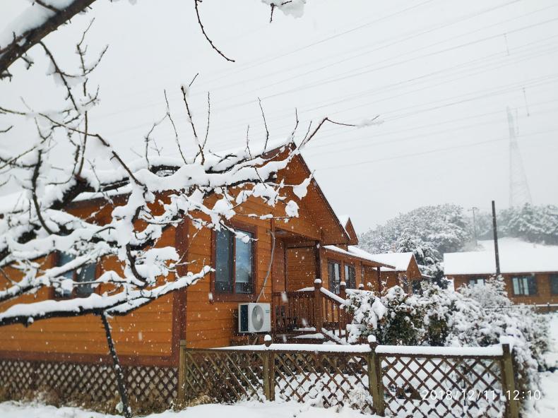公司样板间雪景欣赏